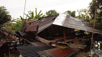 Angin Puting Beliung Rusak Puluhan Rumah di Sergai dan Tebingtinggi
