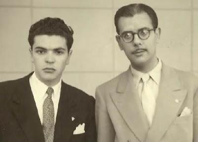 Joaquim Durão y Antonio Medina en el Torneo Internacional de Lisboa 1951