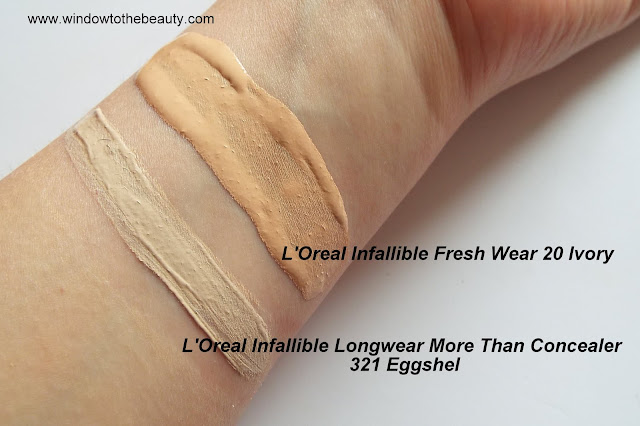L'Oreal Paris Infallible Fresh Wear swatches