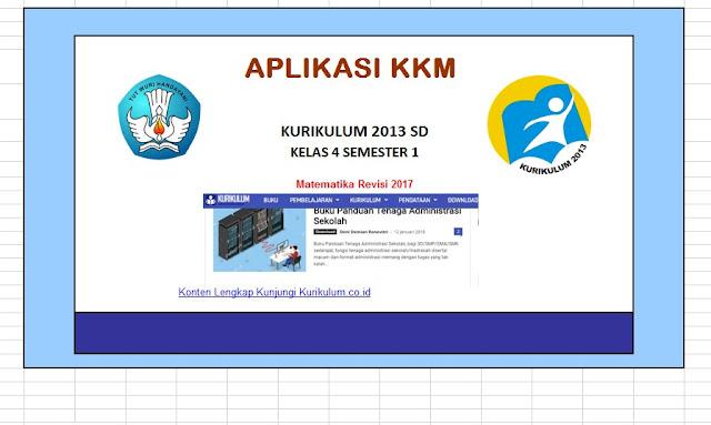 KKM Matematika Kelas 4 dan 5 Kurikulum 2013 Revisi Semester 1 dan 2