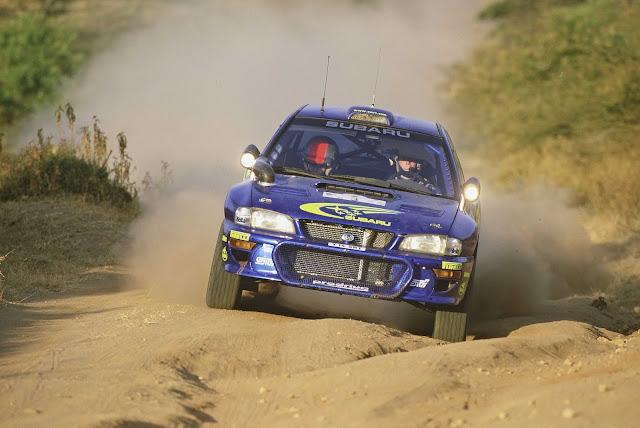 Richard Burns Subaru Impreza rally car