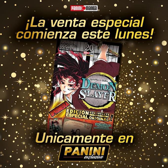 Inicia la venta del tomo #20 de Kimetsu no Yaiba edición especial en Panini México