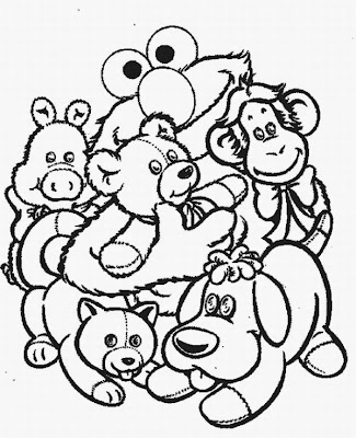 Learn to coloring january 2009 for Elmo valentine coloring pages