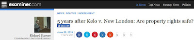 Rick Sincere kelo new london examiner.com property rights scotus