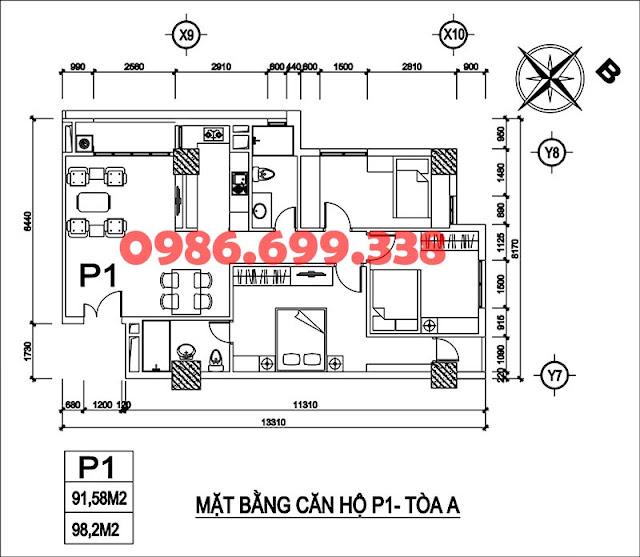 Căn 01 tòa A chung cư AZ Sky Định Công
