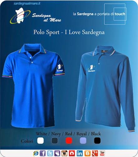 """Polo Tricolore con logo """"Sardegna al Mare"""" Classico"""