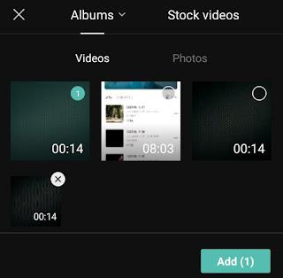 add a saved audio mp4