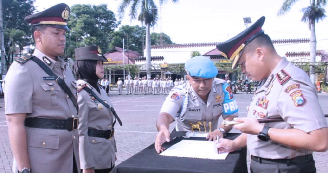 Kapolres Malang Pimpin Sertijab Kasatlantas Polres Malang
