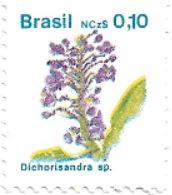 Selo Flores da espécie Dichorisandra sp