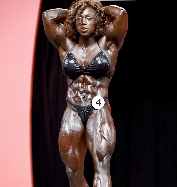 Dayana Cadeau is a Canadian-American female bodybuilder