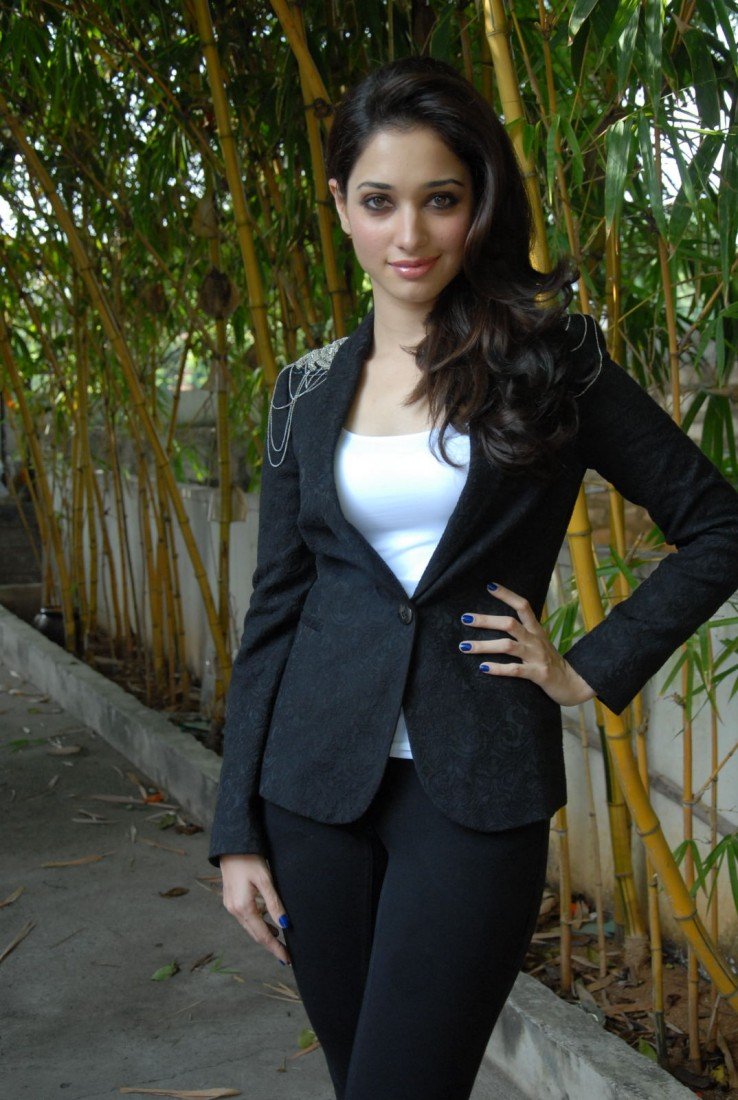 Beautiful Punjabi Girl Tamanna Latest Stills In Black Coat Jeans
