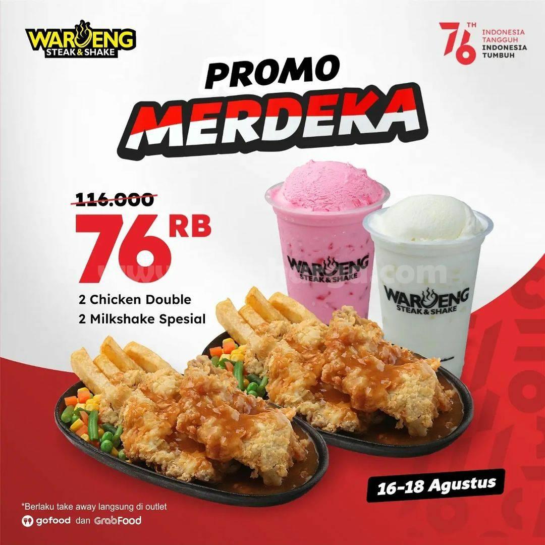 Waroeng Steak & Shake Promo Merdeka! 4 Paket Cuma Rp 76RB*