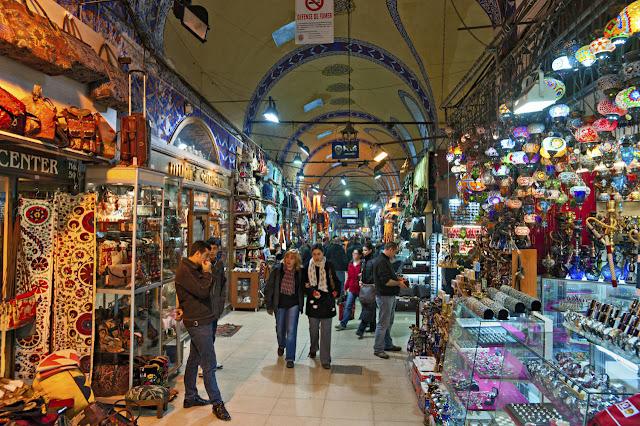 Grand Bazaar em Istambul na Turquia
