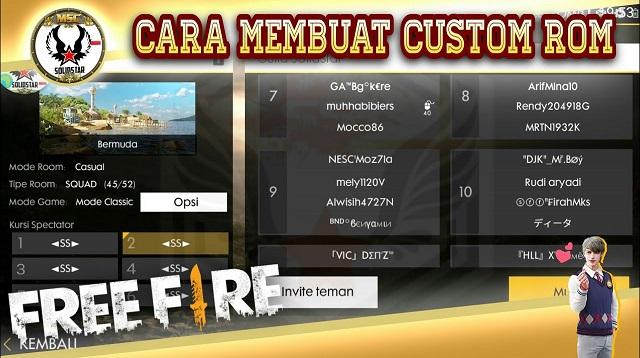Cara Mendapatkan Custom Room Garena