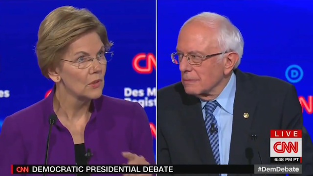 CNN Democrat presidential debate Elizabeth Warren Bernie Sanders beating incumbent Republican 30 years
