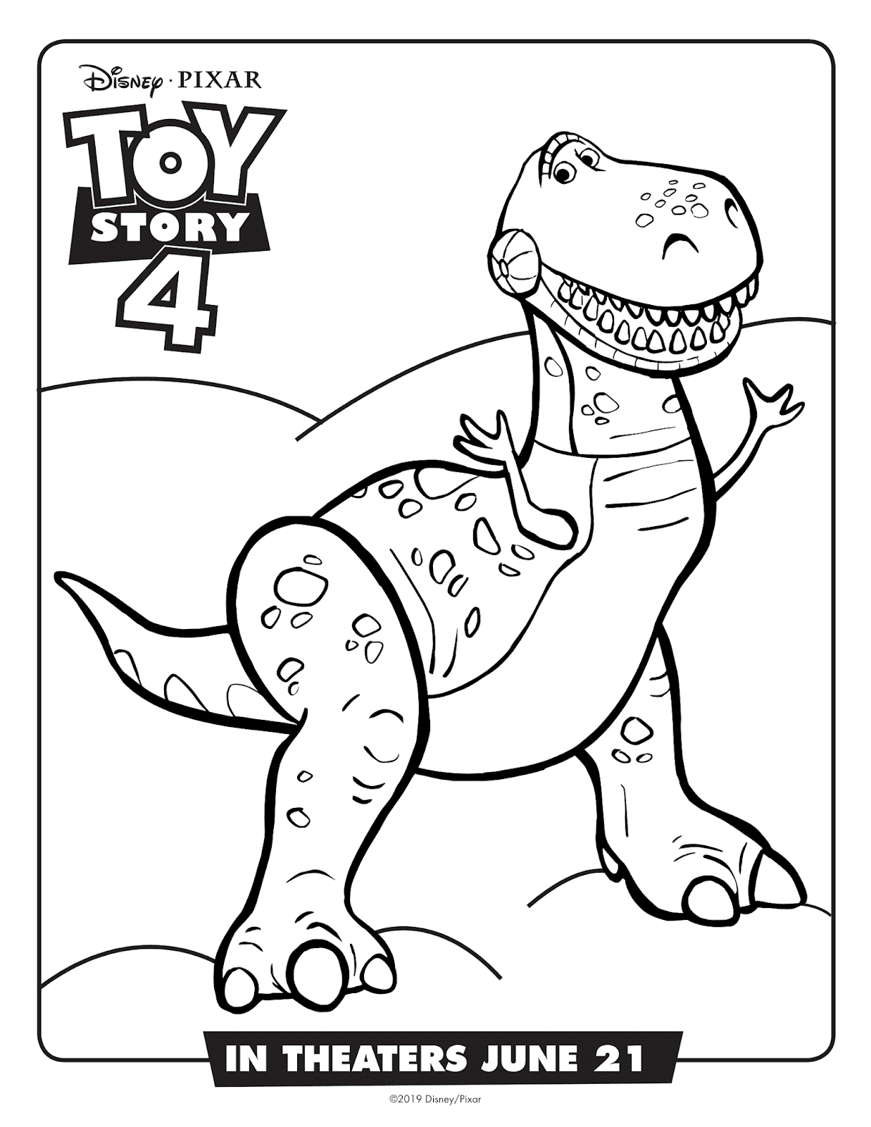 """Free Disney/Pixar """"Toy Story 26"""" Coloring Pages & Activities +"""