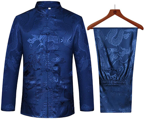 Chinese Traditional Cheongsam Suit Tang Suit Hanfu For Men