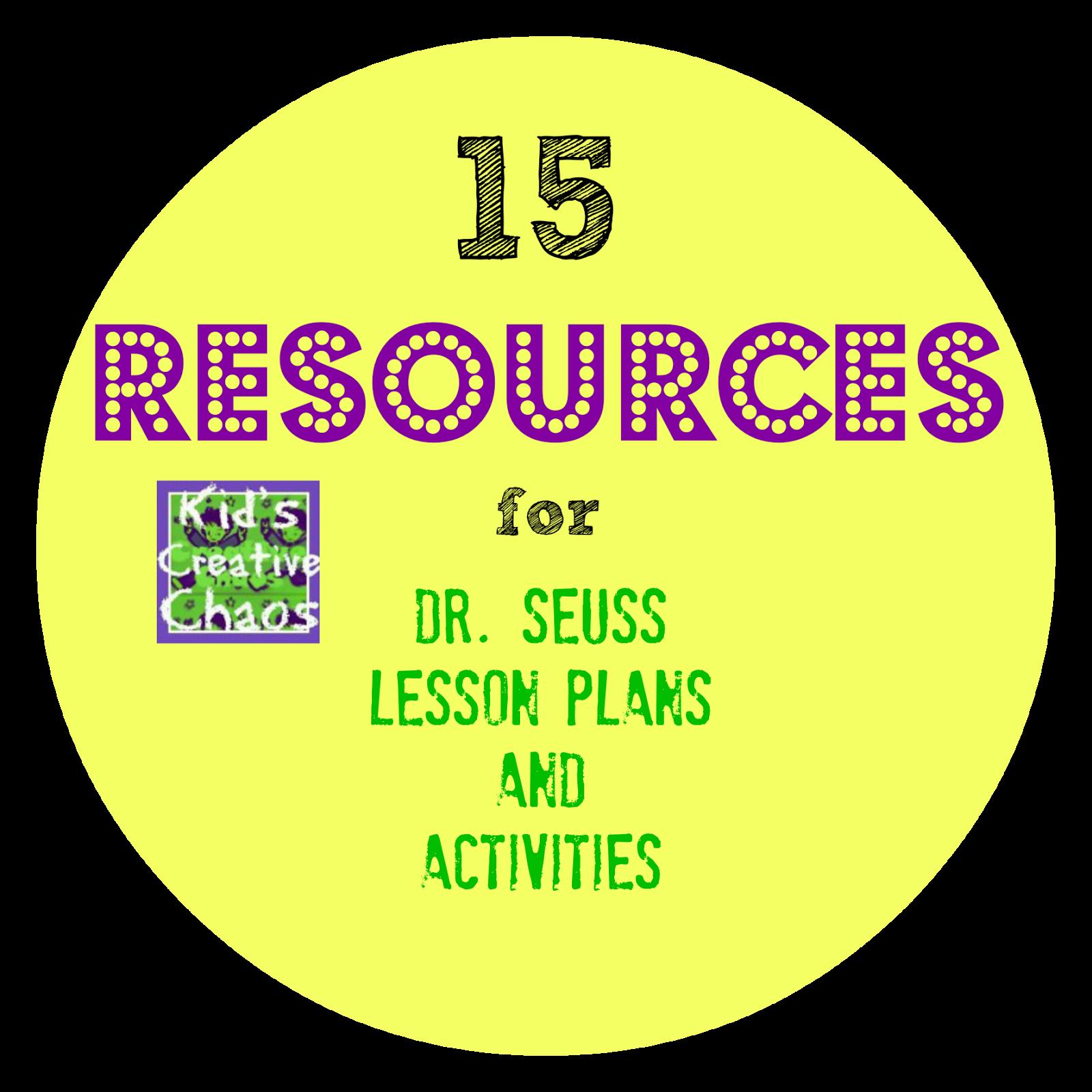 15 Resources For Dr Seuss Lesson Plans Elementary School