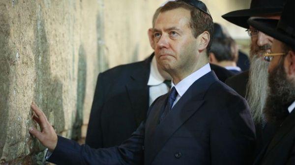 Dmitry Medvedev, en el Kotel en Jerusalém