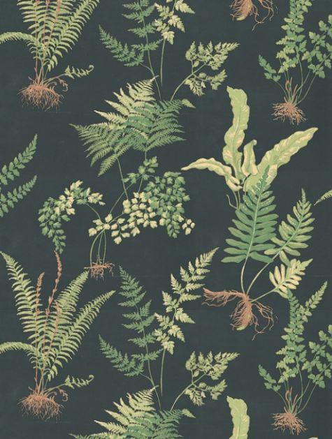 Dark Vintage Floral Wallpaper