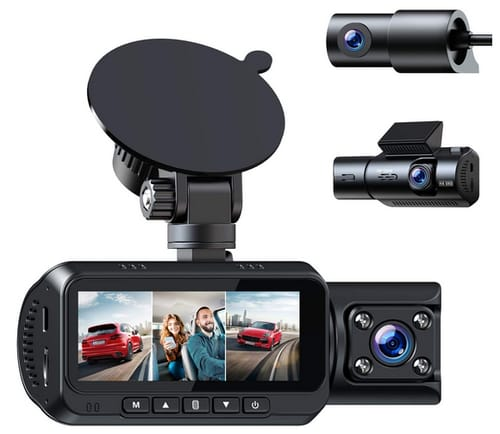 TOGUARD CE66 3 Channel 4K Dash Cam for Cars
