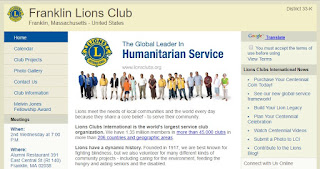 Announcement from Franklin Lions Club