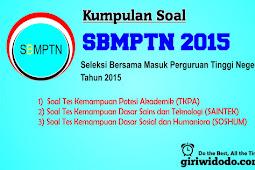 Download Soal dan Pembahasan SBMPTN 2015 Naskah Asli Lengkap