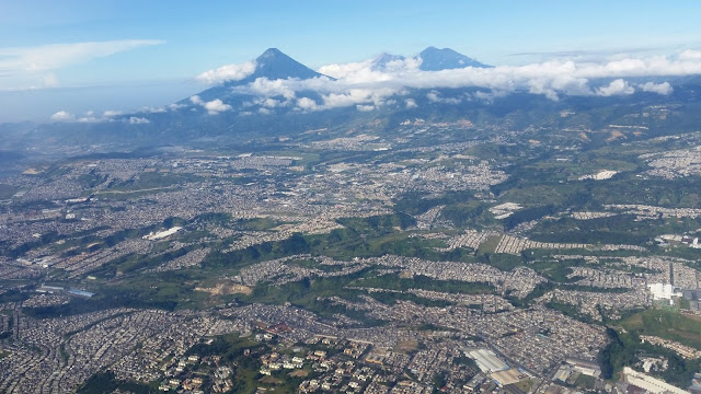 aerial view Guatemala City
