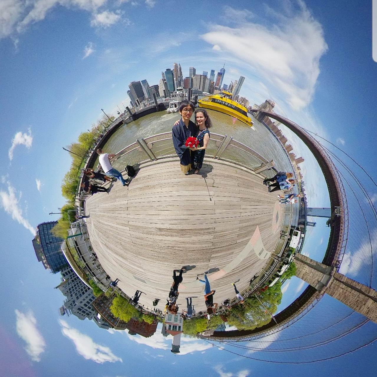 COUPLE ENJOYING THE BEAUTY OF 360 PHOTOGRAPHY