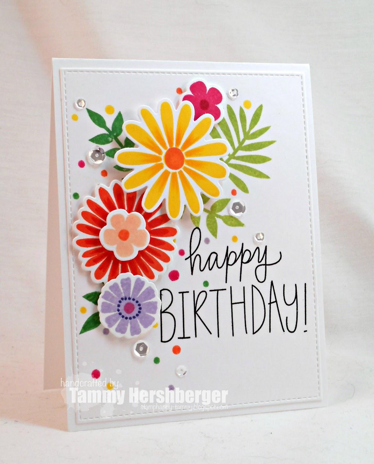 Stamp Happy Happy Birthday Mom