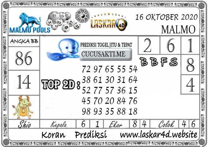 Prediksi Togel MALMO LASKAR4D 16 OKTOBER 2020