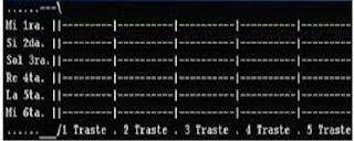 La tablatura se compone de seis líneas horizontales que representan las seis cuerdas de la guitarra, la línea de arriba es la 1ª cuerda y la última línea es la 6ª: Ejemplo: