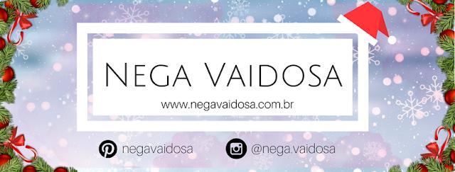 Capa natalina da página do Facebook do blog Nega Vaidosa