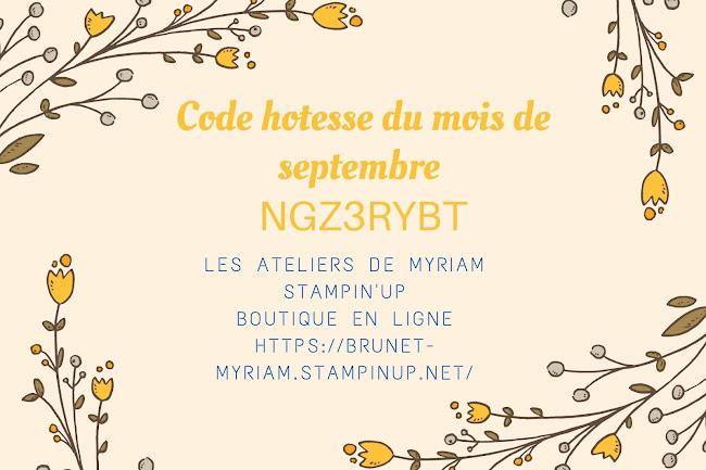 Code hotesse septembre