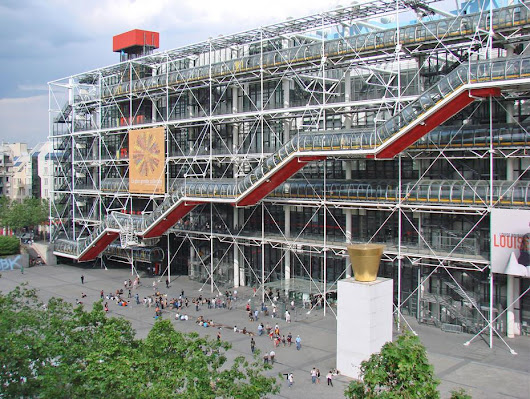 Centro Georges Pompidou - Renzo Piano e Richard Rogers - Arquitetura High Tech