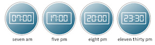 The 12-hour clock