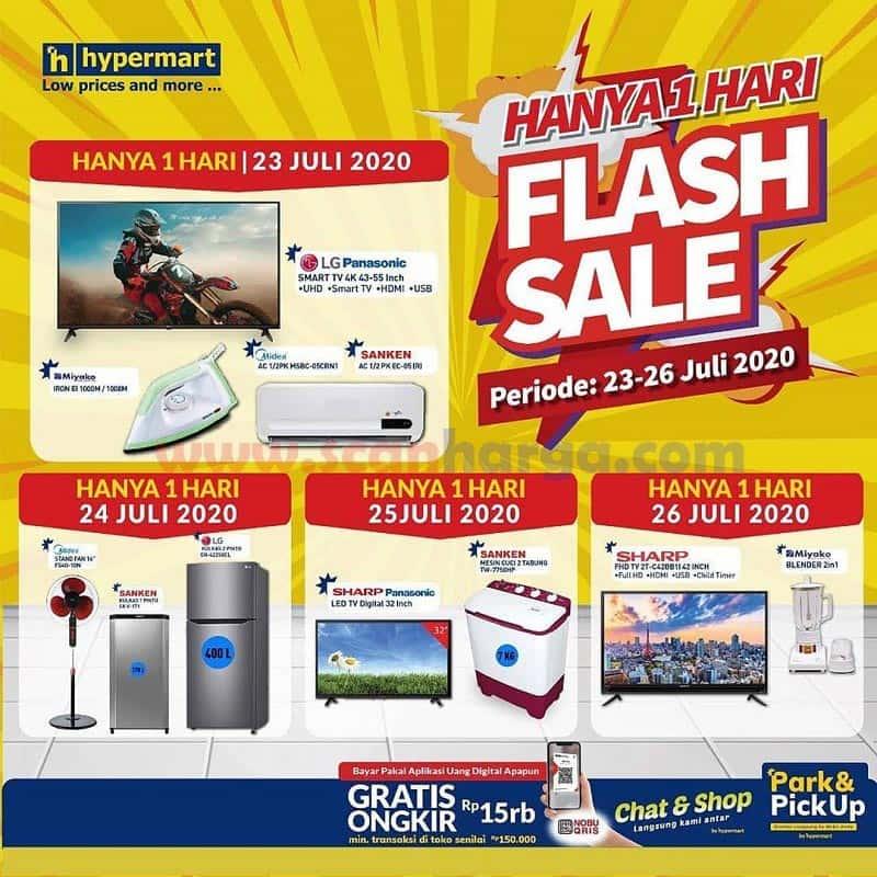 Promo Hypermart Flash Sale Spesial Elektronik Periode 24 - 26 Juli 2020