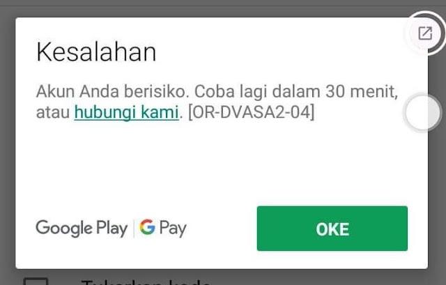 5 Solusi Tidak Bisa Melakukan Pembayaran di Google Play Store Karena Akun Beresiko