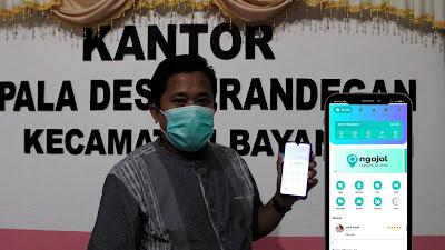 """""""NGOJOL"""" Aplikasi Ojek Online Gagasan BUMDes Krandegan"""