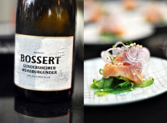 Ceviche vom Lachs mit dem Wein Gundersheimer Weißburgunder trocken von Johanna und Philipp Bossert
