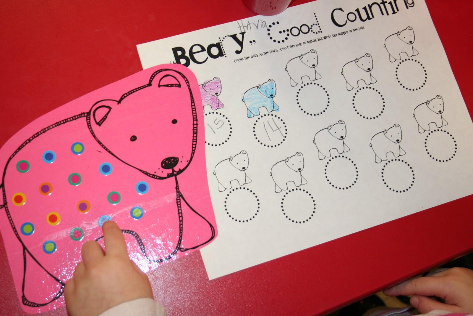 Mrs Lee S Kindergarten Animals In Winter Math Stations
