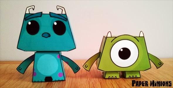 Monstruos S.A.: Sully y Myke para Imprimir Gratis.