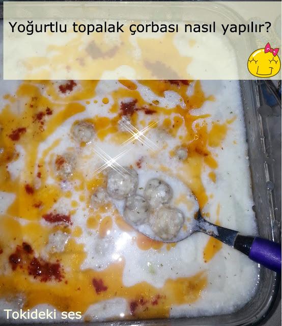 Yoğurtlu Topalak Çorbası Tarifi