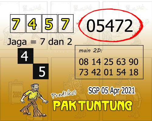 Syair SGP Senin 05 April 2021 -