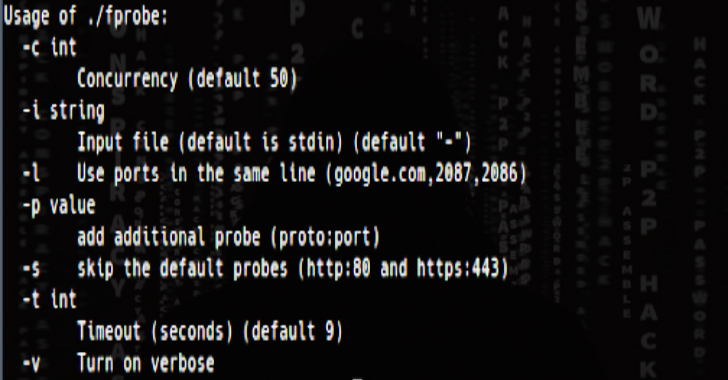 FProbe : Domains/Subdomains & Probe For Working Http/Https Server