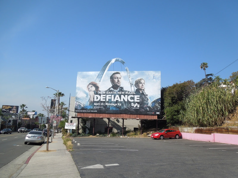 Defiance special extension billboard Sunset Boulevard