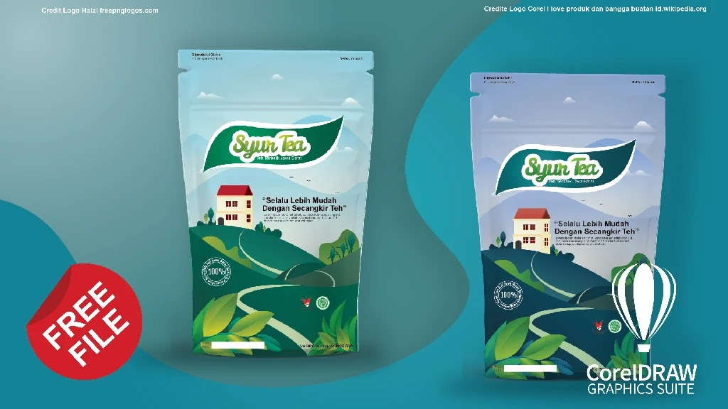 Download Kemasan Produk Minuman Teh Coreldraw Dan Photoshop