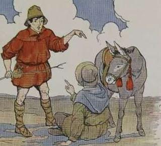 Kisah Pengembara berebut Bayangan Keledai