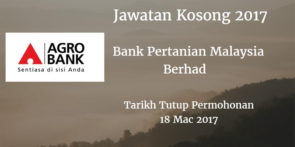 Jawatan Kosong Agrobank 18 Mac 2017