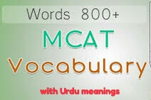 MDCAT vocab with Urdu meanings
